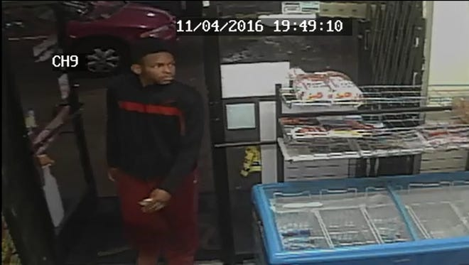 Pictures of two suspects accused in armed robbery near Evergreen and Puritan at about 7 p.m. Nov. 4.