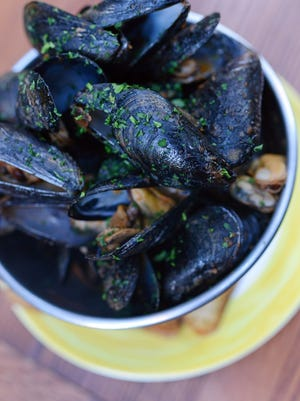 Get all-you-can-eat mussels daily at the Creperie Bouchon.