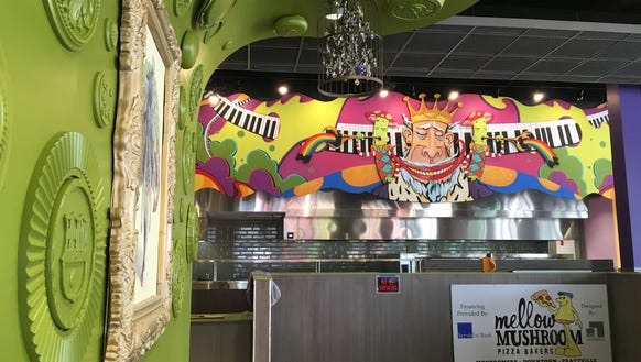 Much of the interior is finished at Mellow Mushroom's