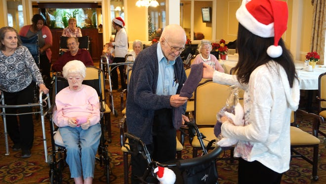 The Canton LIttle Stars brought holiday spirit to seniors throughout Westland and Canton.