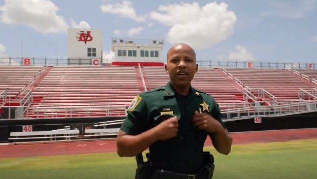"""The Indian River County Sheriff's Department releases its #LipSyncChallenge video July 24. Deputies sang Jake Owen's """"I Was Jack (You Were Diane)."""""""