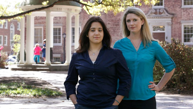 Andrea Pino, left, and Annie Clark filed a Title IX complaint against the University of North Carolina.