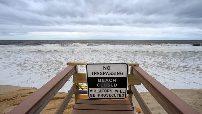 As Hermine spins closer to land, beach erosion, coastal flooding and rough seas continued on Tuesday September 6, 2016, including in Matoloking.