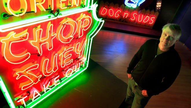 The History Museum at the Castle's newest exhibit in downtown Appleton features 30 vintage neon signs from the collection of Greenville's Jed Schleisner.