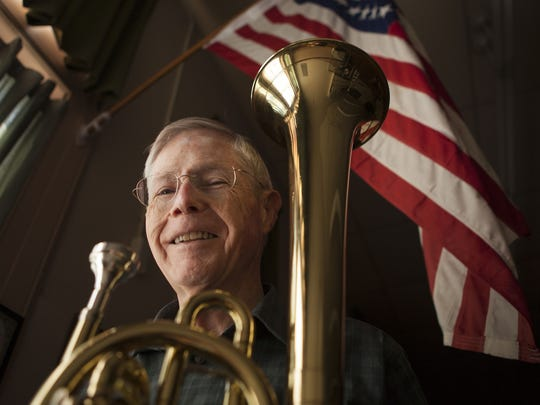 Bob Moody, director of the Stonewall Brigade Band,