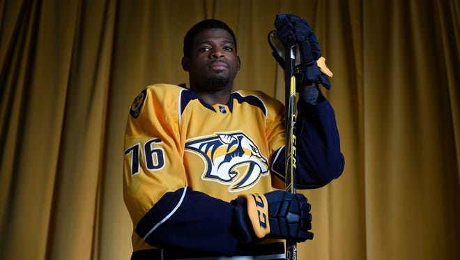 Predators defenseman P.K. Subban is day-to-day with an upper-body injury.