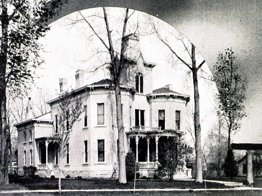 A photograph of the Hottel Mansion on S. College Ave. circa 1915.