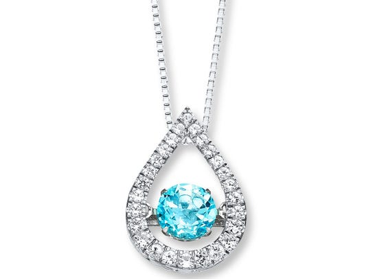 Blue Topaz Colors in Rhythm Necklace