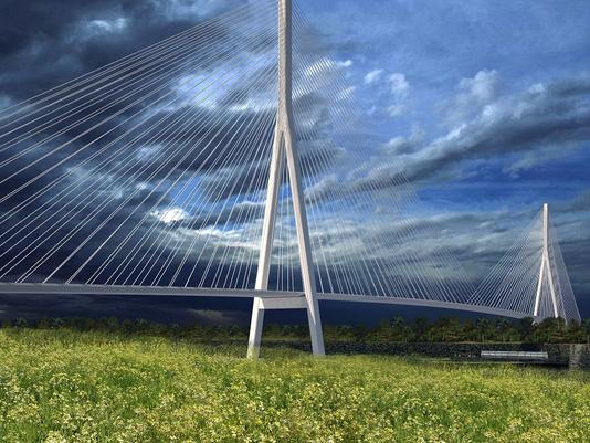 Rendering of possible design for Gordie Howe International Bridge