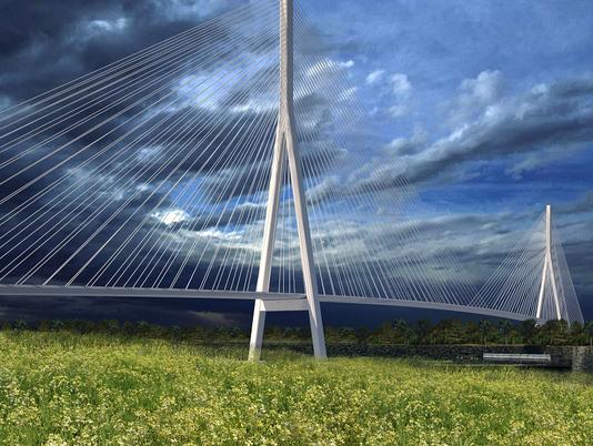 Gordie Howe International Bridge potential rendering