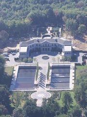 Aerial photo shows the Moorestown mansion of banker Vernon W. Hill II.