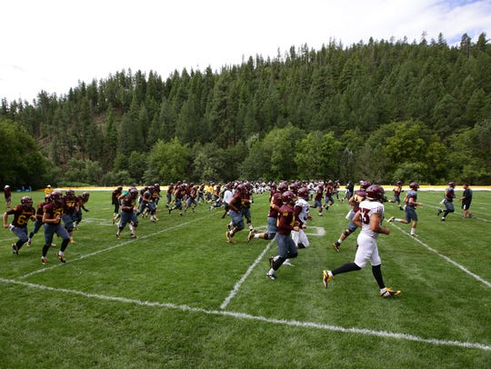 The first day of practice for Arizona State at Camp
