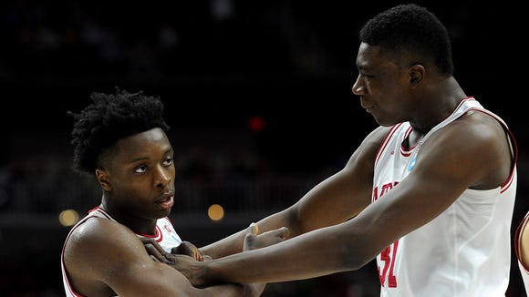 OG Anunoby (left) and Thomas Bryant (right) have seen their NBA Draft stock soar.