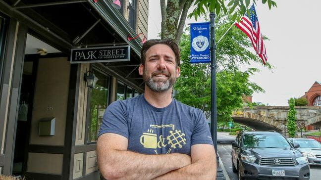 Shane Matlock, an Army veteran, in his new location on Park Street in Attleboro. Shane will soon be opening his new restaurant.