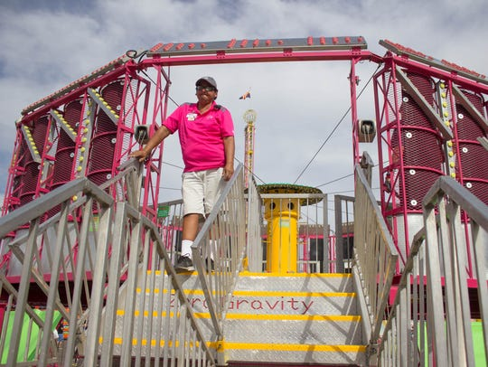 Wayne Pierce, 53, is a ride manager with Ray Cammack