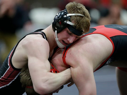 GPG ES Pulaski vs Hortonville team wrestling 2.16.16