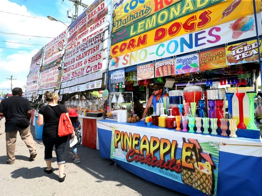 A variety of different snacks are for sale at the 39th