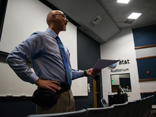 Kirk Elias addressed his team during their first meeting