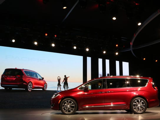 FCA unveiled the 2017 Chrysler Pacifica during the