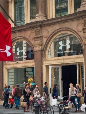 Under Armour's Brand House store in New York's Soho district.