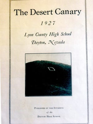 """The Dayton """"D"""" was featured on the cover of the 1927 Dayton High School yearbook."""
