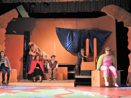 """""""James and the Giant Peach"""" sees an orphan boy afloat at see in a giant peach with the insects who live there. The musical is based on the 1961 children's book by Roald Dahl."""
