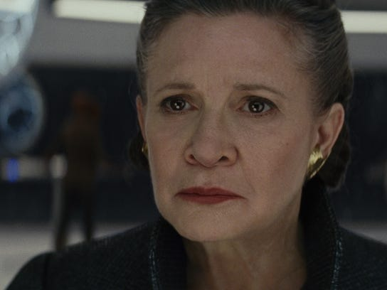 "General Leia (Carrie Fisher) in ""Star Wars: The Last Jedi."""