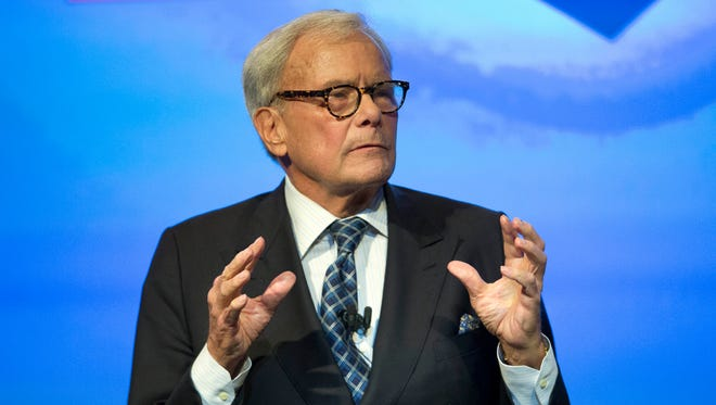 Tom Brokaw, the former NBC anchor (pictured Sept. 22, 2014), has a memoir coming out May 12, Random House announced Monday, March 2, 2015.