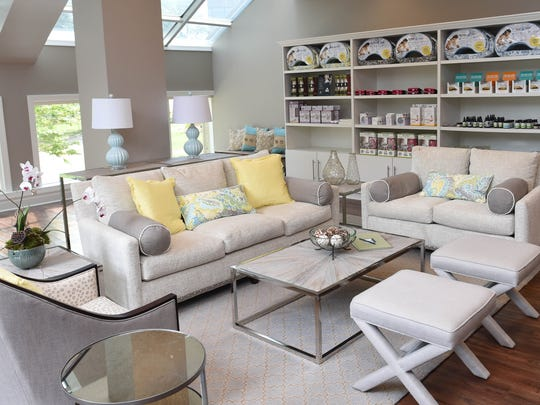 Baby + Co is a boutique birth center opening in Nashville, Tenn. The lobby also offers products for sale for pregnacy and newborn care.