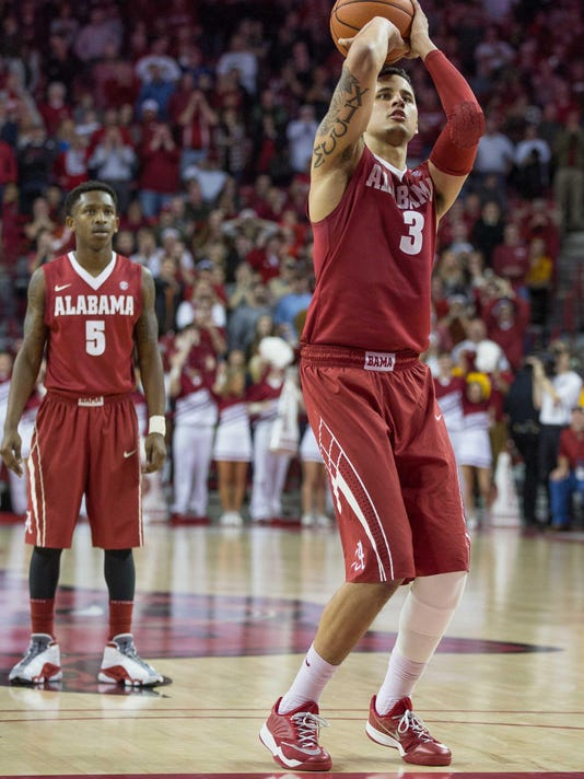 NCAA Basketball: Alabama at Arkansas