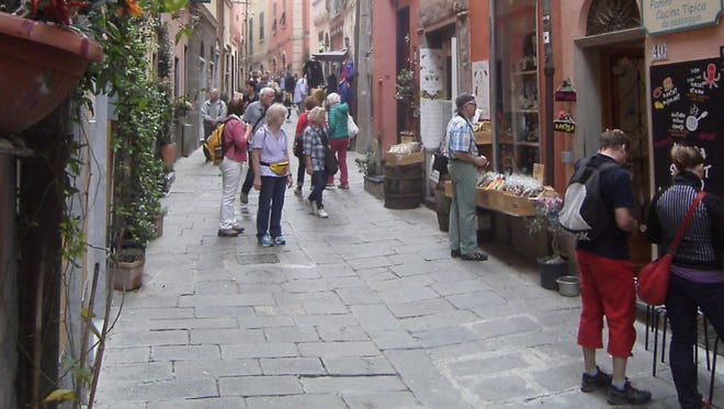 This winding bricked byway is Porto Venere's main shopping and dining venue.