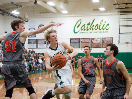 Knoxville Catholic's Jack Sompayrac attempts to score