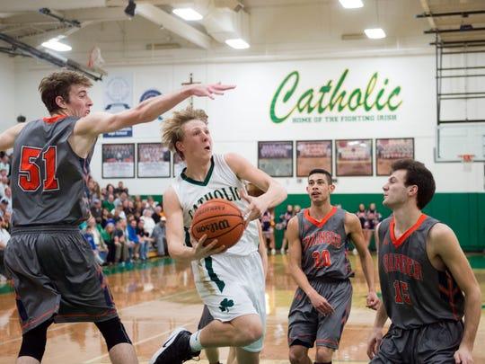 Knoxville Catholic's Jack Sompayrac attempts to score