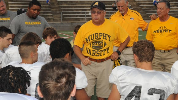 Murphy football coach David Gentry has won a Western North Carolina record 380 career games.