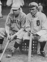 Tris Speaker, left, had at least 511 hits against the