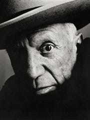 Pablo Picasso at La Californie, Cannes, 1957 Platinum-palladium print, 1985 by Irving Penn.