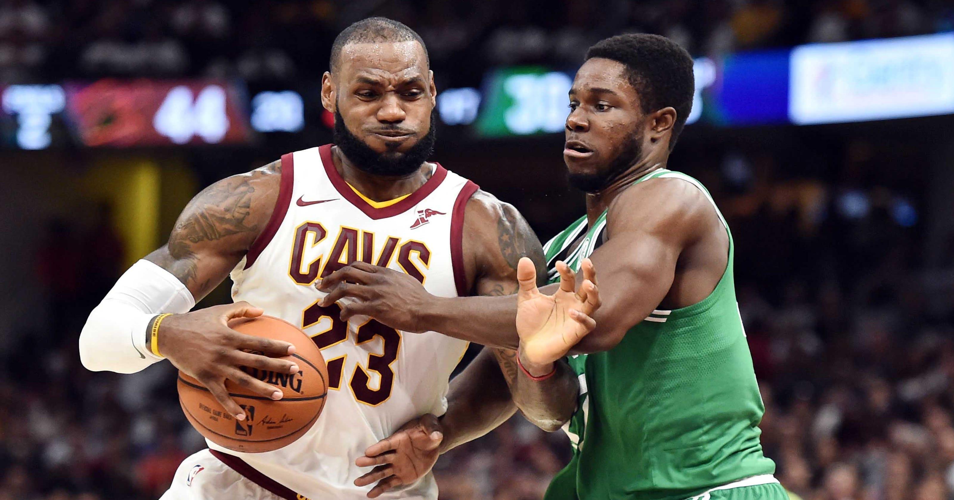 4215993fc3b Cavs hang on vs. Celtics in Kyrie Irving s return to Cleveland
