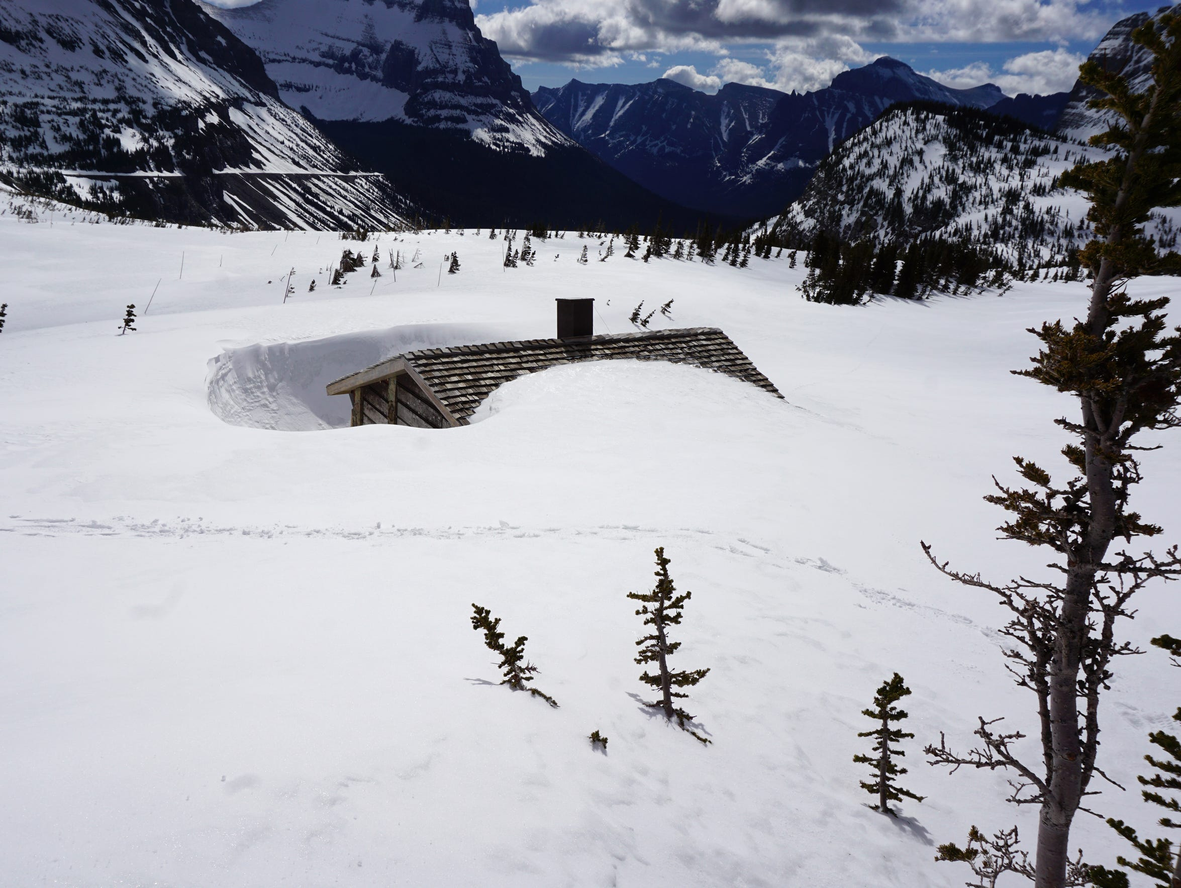 Logan's Pass Visitor Center on May 15, 2017.