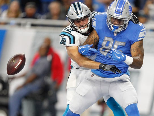 Eric Ebron has been credited with 10 drops over the past two seasons, a topic of brimming frustration for Lions fans.