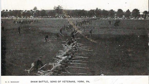 A 1906 Civil War reenactment in York.