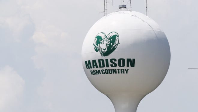 The Madison Township water tower has been repainted.