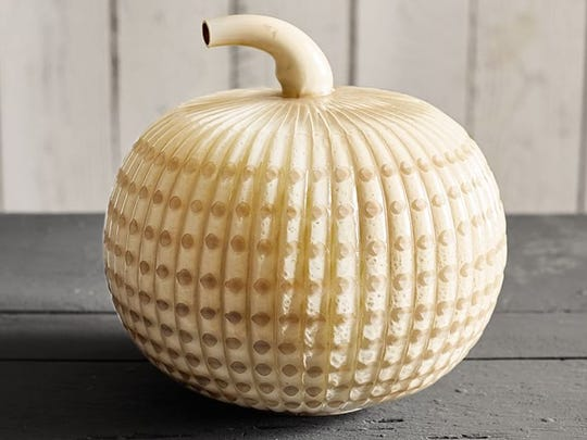 Milk glass pumpkin.