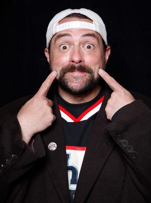 "Filmmaker Kevin Smith poses for a portrait to promote ""Yoga Hosers"" at the Sundance Film Festival."