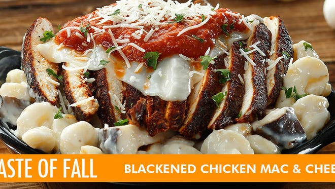 The Blackened Chicken Mac and Cheese is one of the featured entrees on The Ram's Taste of Fall menu.
