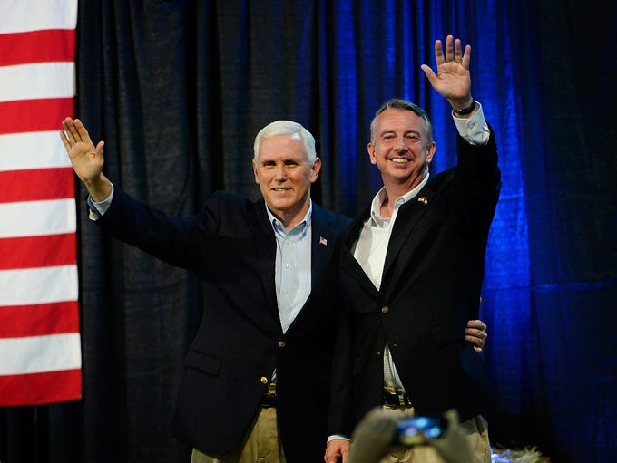 Pence and Virginia gubernatorial candidate Ed Gillespie