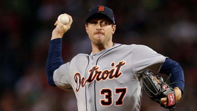 Tigers starter Max Scherzer struck out seven batters in the first three innings.
