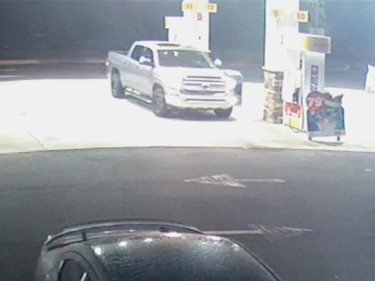 Detectives say the man drove away in a white or silver Toyota Tundra 4-door truck.