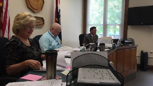 The Christian County commissioners, from left: Sue Ann Childers, Ray Weter and Bill Barnett.