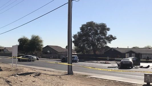 Two people were killed and three were injured in a head-on crash in west Phoenix Wednesday.