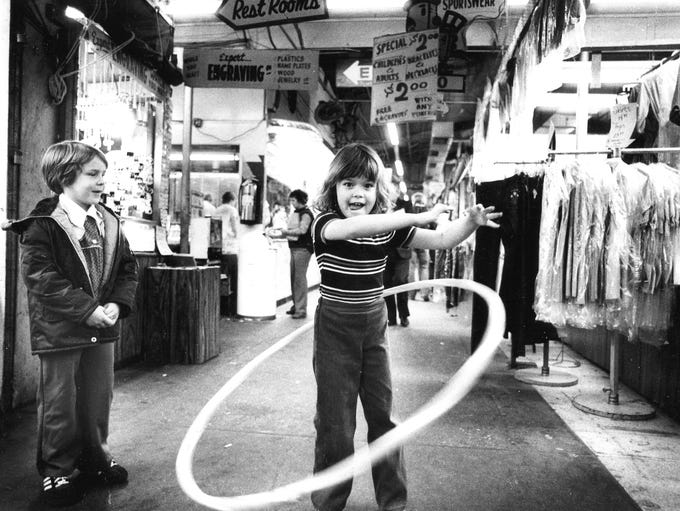 Kids play inside Pennsauken Mart in 1980.